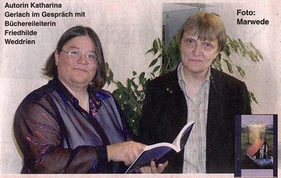 Katharina mit der Bibliothekarin Frau Weddrien
