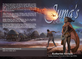 wrap around print cover for Juma's Rain
